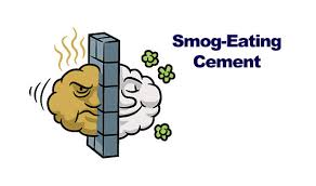 smog eating concrete