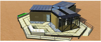 team china solar powered housing entry