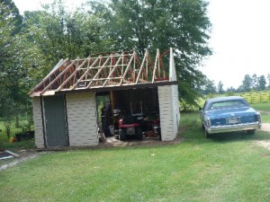 Roof sucked off by a tornado