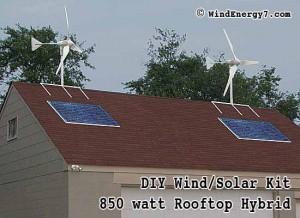 Rooftop wind turbine and solar hybrid