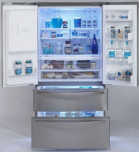 lg-refrigerator-four-door-lmx25981-open
